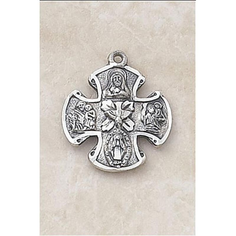 Maltese Four Way Medal In Sterling Silver