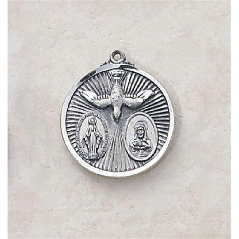 Sacred Heart, Blessed Mother - Creed Holy Spirit Medal
