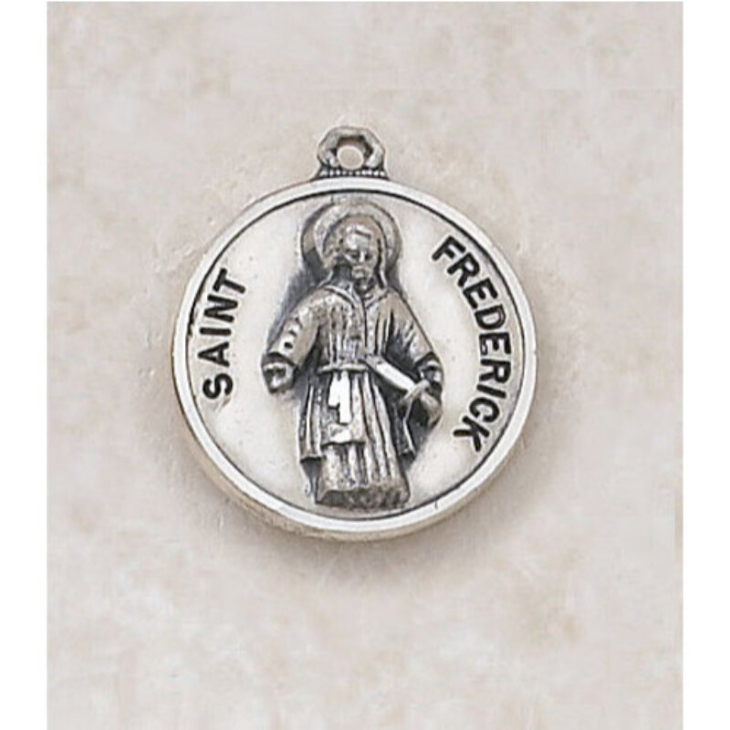 Saint Frederick Medal - in Sterling Silver