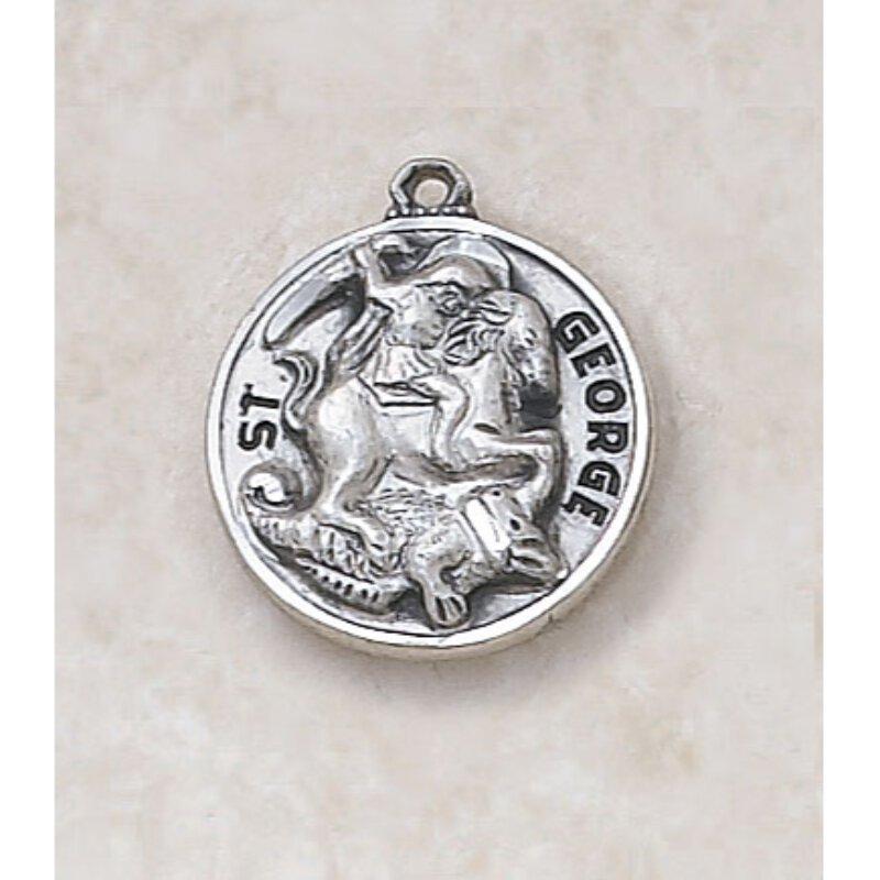 Saint George Medal - in Sterling Silver