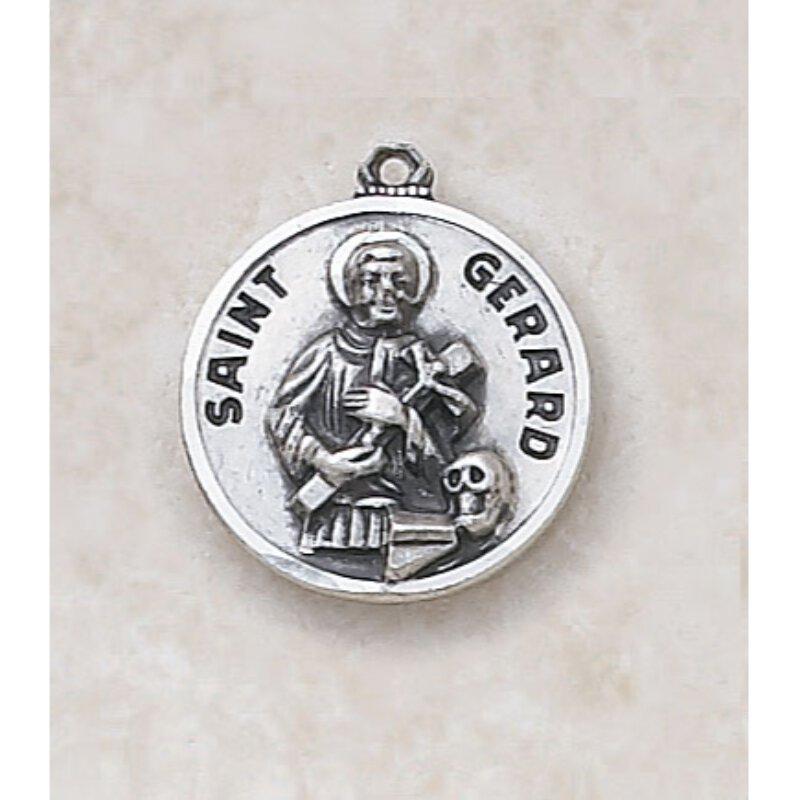 Saint Gerard Medal - in Sterling Silver