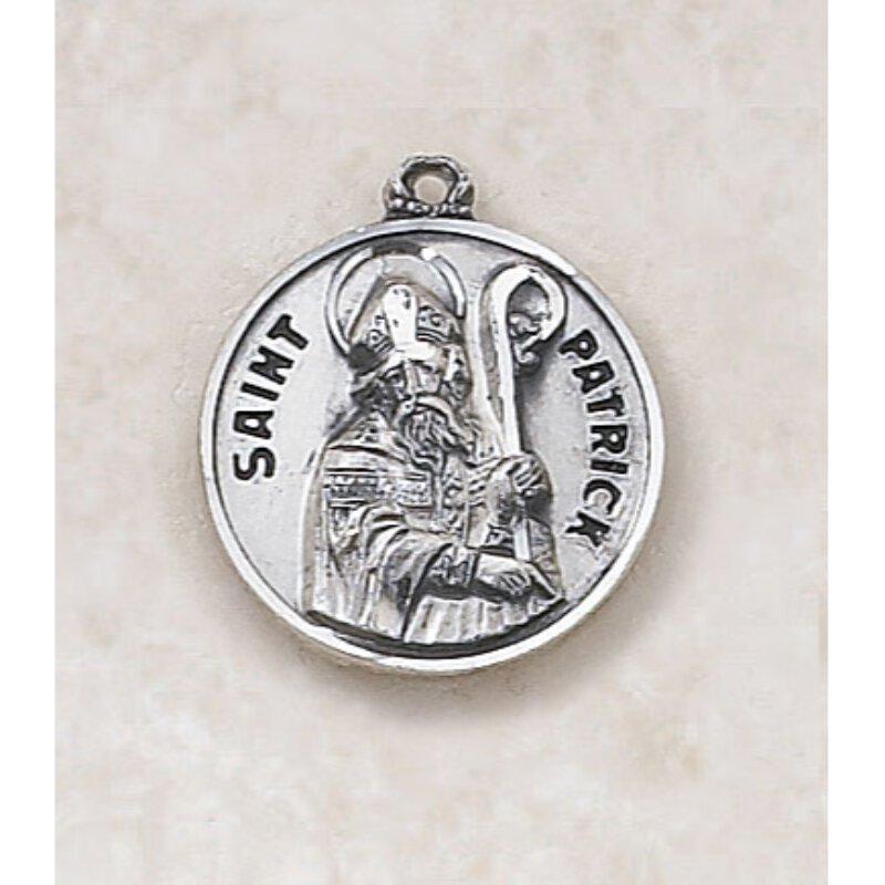 Saint Patrick Medal - in Sterling Silver