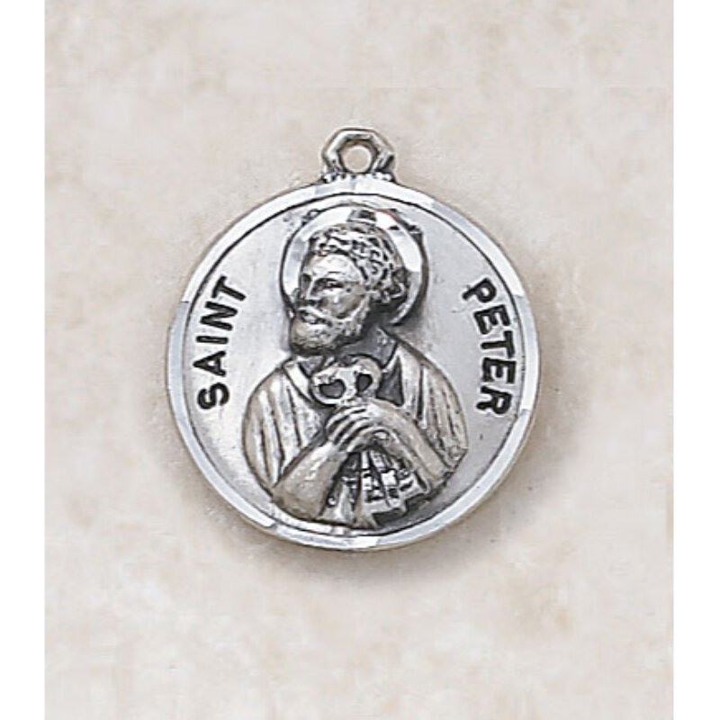 Saint Peter Medal  - in Sterling Silver