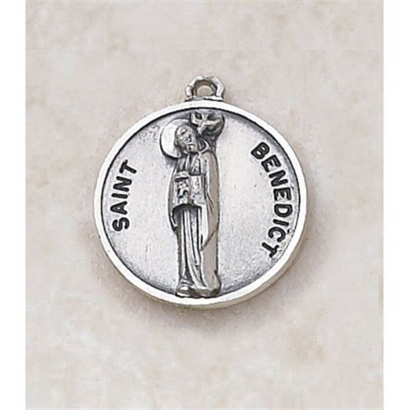 Saint Benedict Medal - in Sterling Silver