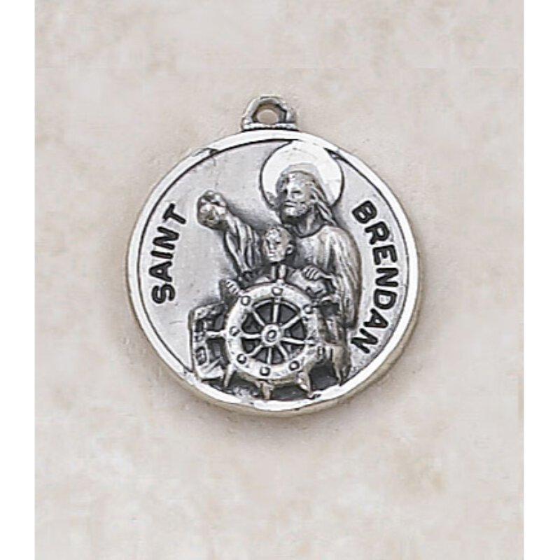 Saint Brendan Medal - In Sterling Silver