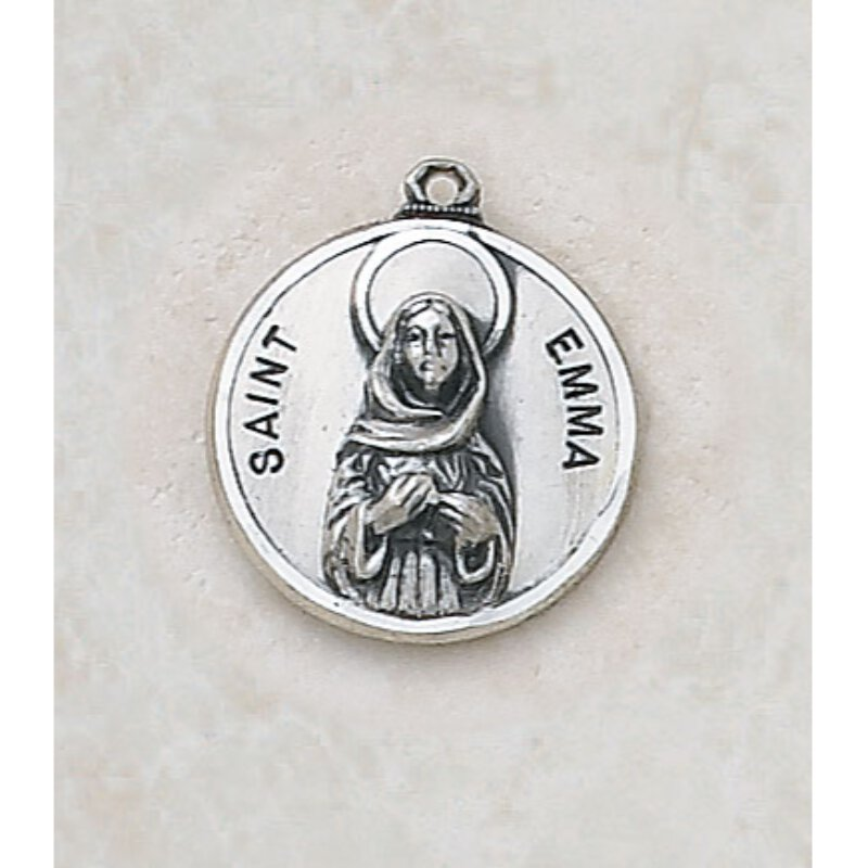 Saint Emma Medal - in Sterling Silver