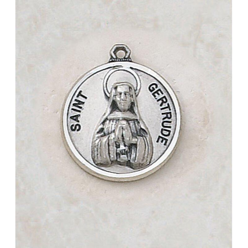 Saint Gertrude Medal - in Sterling Silver