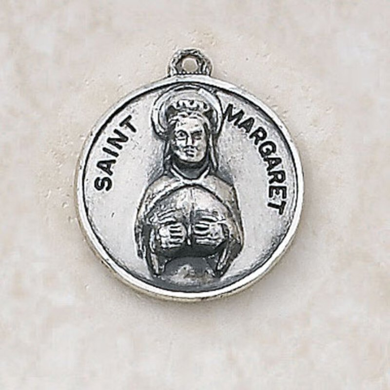 Saint Margaret Medal - in Sterling Silver