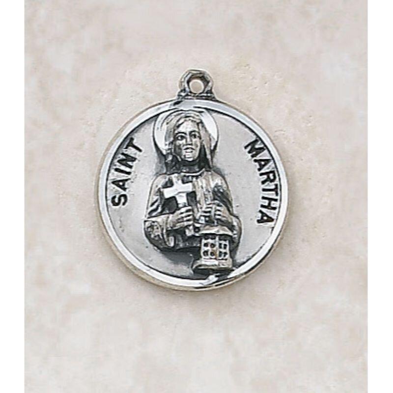 Saint Martha Medal - in Sterling Silver