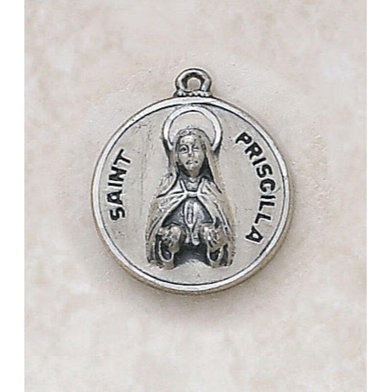 Saint Priscilla Medal - in Sterling Silver