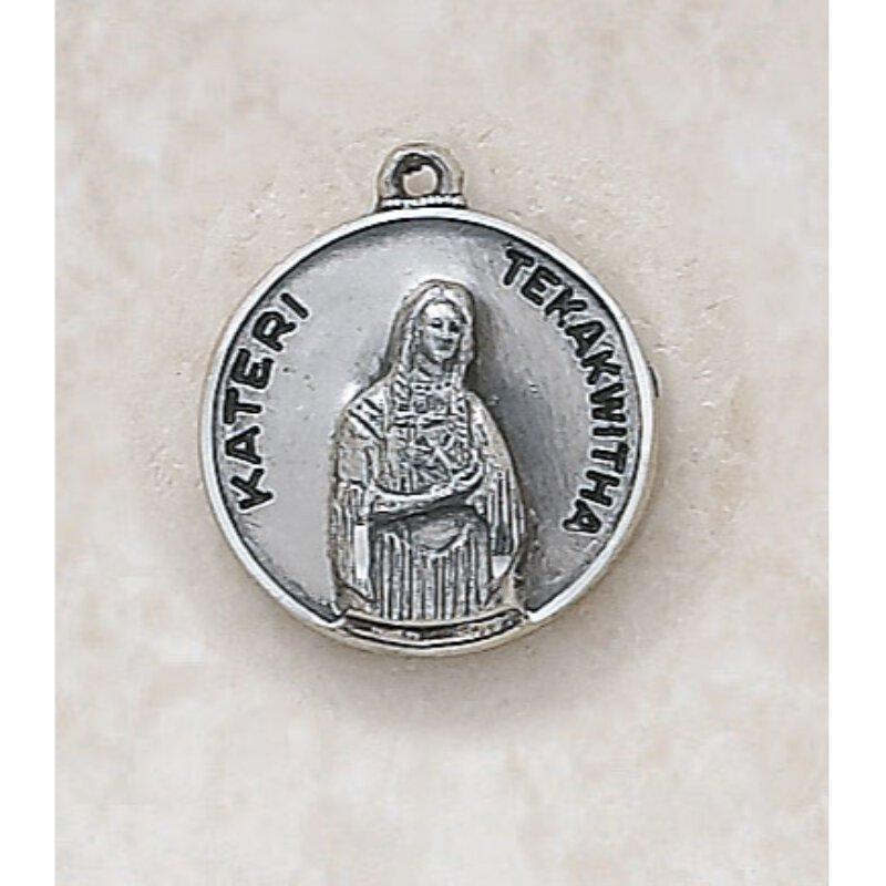 Saint Kateri Tekakwitha Medal - in Sterling Silver