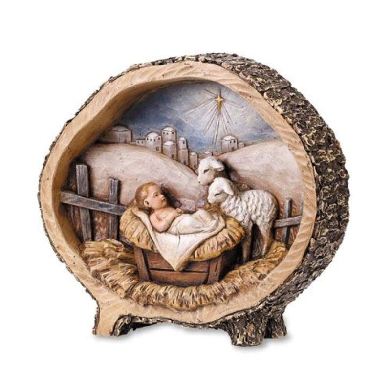 Baby Jesus with Lambs Figurine