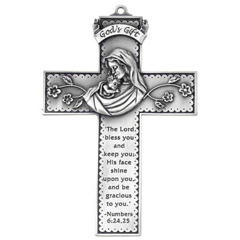 God's Gift - Baby's Baptism Cross