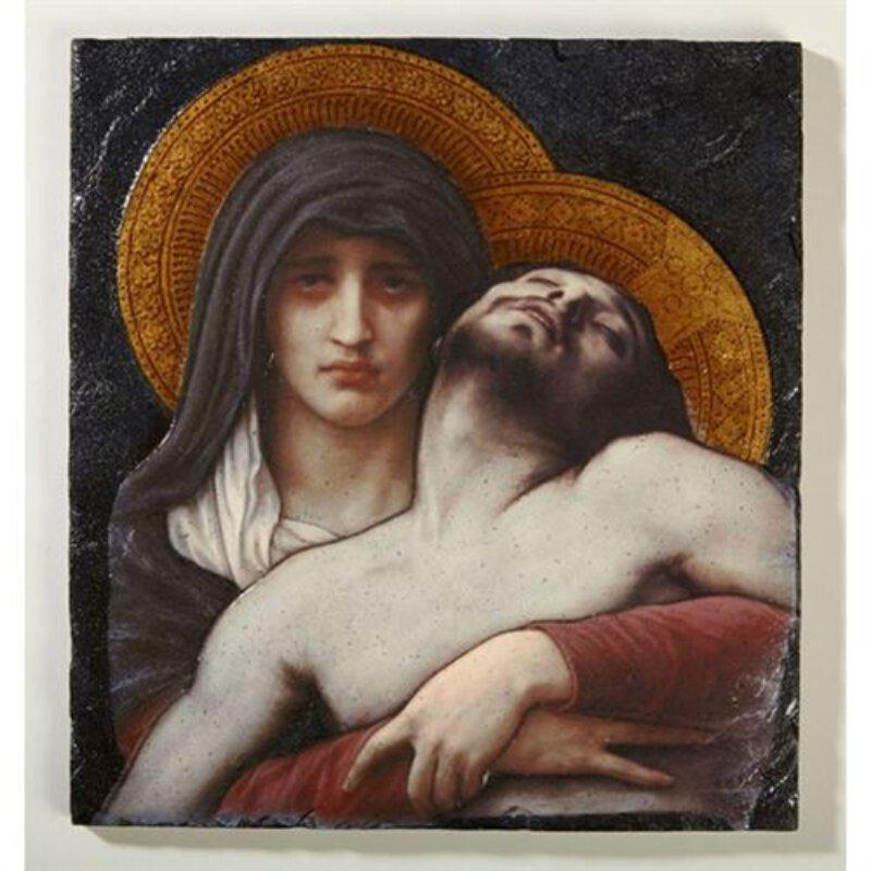 Bouguereau Pieta - Tile Plaque with Stand