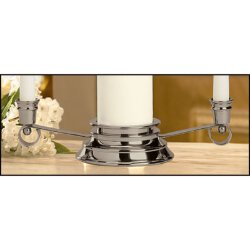 Unity Candle Holder - Silver Plated