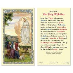 Our Lady of Fatima/Novena - Holy Cards 25/pkg