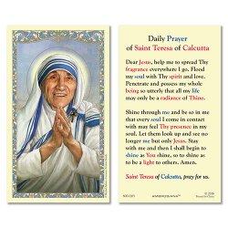 Saint Teresa of Calcutta Laminated Holy Cards - 25/pk