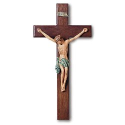 Wall Crucifix for the Home- with Hand Painted Corpus - 13