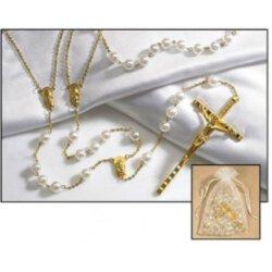 Pearl Bead Lasso Wedding Rosary