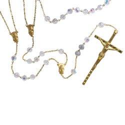 Crystal Bead Lasso Wedding Rosary