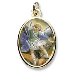Saint Michael Epoxy Medals - Package of 24