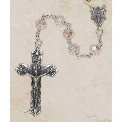 Aurora Borealis Austrian Crystal Rosary