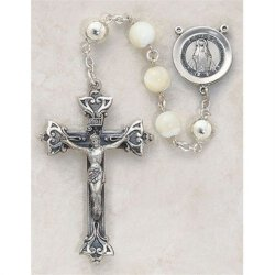 Round Bead Mother of Pearl - Women's Rosary