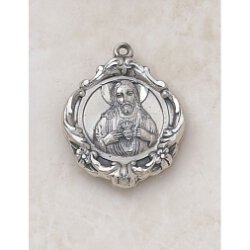 Ornate Creed Scapular Medal - In Sterling Silver