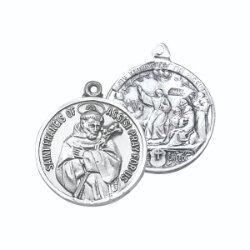 Saint Francis of Assisi - Creed Sterling Silver Medal
