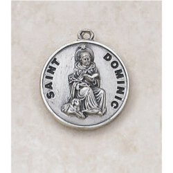 Saint Dominic Medal in Sterling Silver
