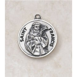 Saint Francis Medal - in Sterling Silver
