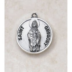 Saint Gregory Medal - in Sterling Silver