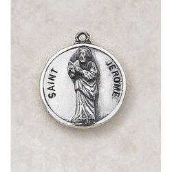 Saint Jerome Medal - in Sterling Silver