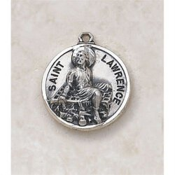 Saint Lawrence Medal - In Sterling Silver