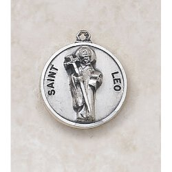 Saint Leo Medal In Sterling Silver