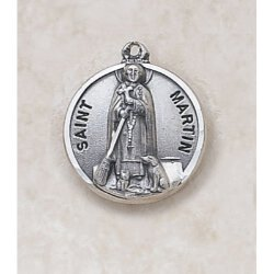 Saint Martin Medal - in Sterling Silver