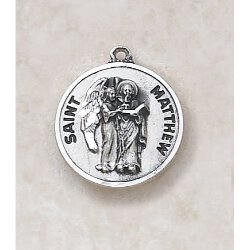 Saint Matthew Medal in Sterling Silver