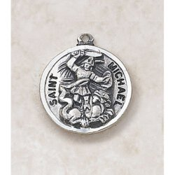 Saint Michael Sterling Silver - Catholic Medal