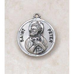 Saint Peter Medal  - in Sterling Silver