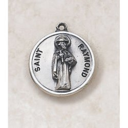 Creed Saint Raymond Medal - in Sterling Silver
