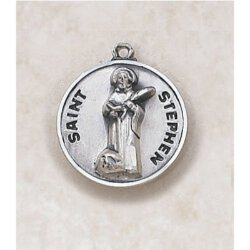 Saint Stephen Medal - in Creed Sterling Silver
