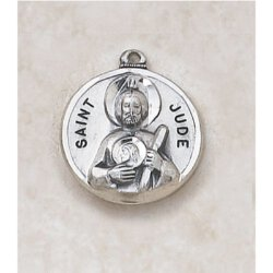 Saint Jude Medal - in Sterling Silver