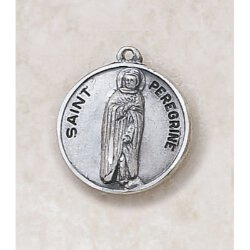Saint Peregrine Medal - in Sterling Silver