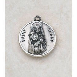 Saint Clare Medal - In Sterling Silver