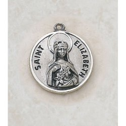 Saint Elizabeth Medal - in Sterling Silver