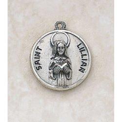 Saint Lillian Medal - in Sterling Silver