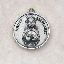 Saint Margaret Medal - in Sterling Silver