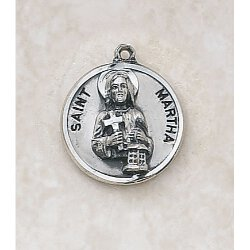 Saint Martha Medal - in Sterling Silver