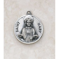 Saint Mary Medal - in Sterling Silver