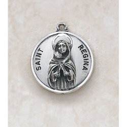 Saint Regina Medal - in Sterling Silver